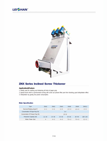 Inclined Screw Thickener